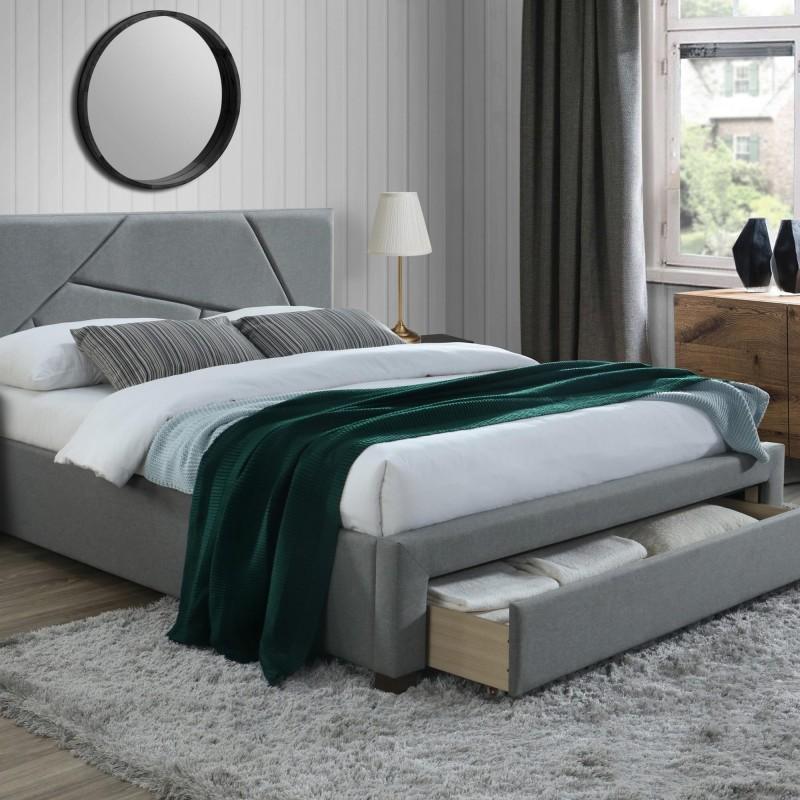 lit 2 personnes avec rangement 160 x 200 cm carellia