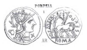 Denier Pompeia _ RRC 235/1