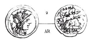 Denier Domitia _ RRC 261/1