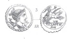Denier Serratus Claudia - RRC 383/1