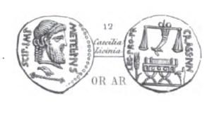 Denier Scipion et Crassus _ RRC 460/2