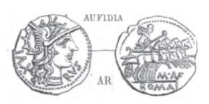 Denier Aufidia _ RRC 227/1