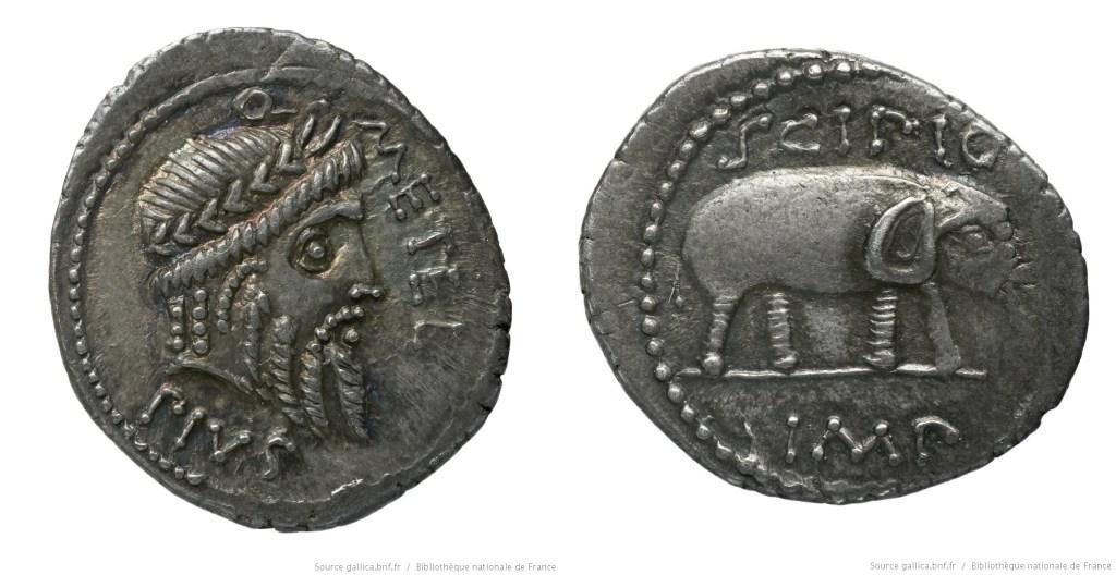 1462CA – Denier Scipion – Quintus Cæcilius Metellus Pius Scipio