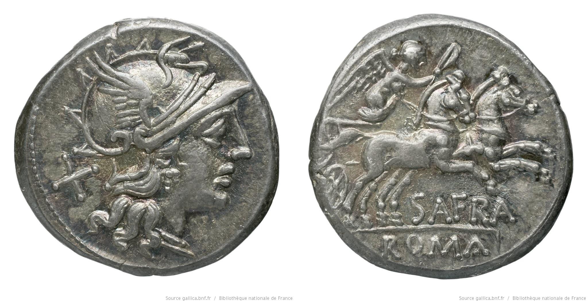 840AF – Denier Afrania – Spurius Afranius