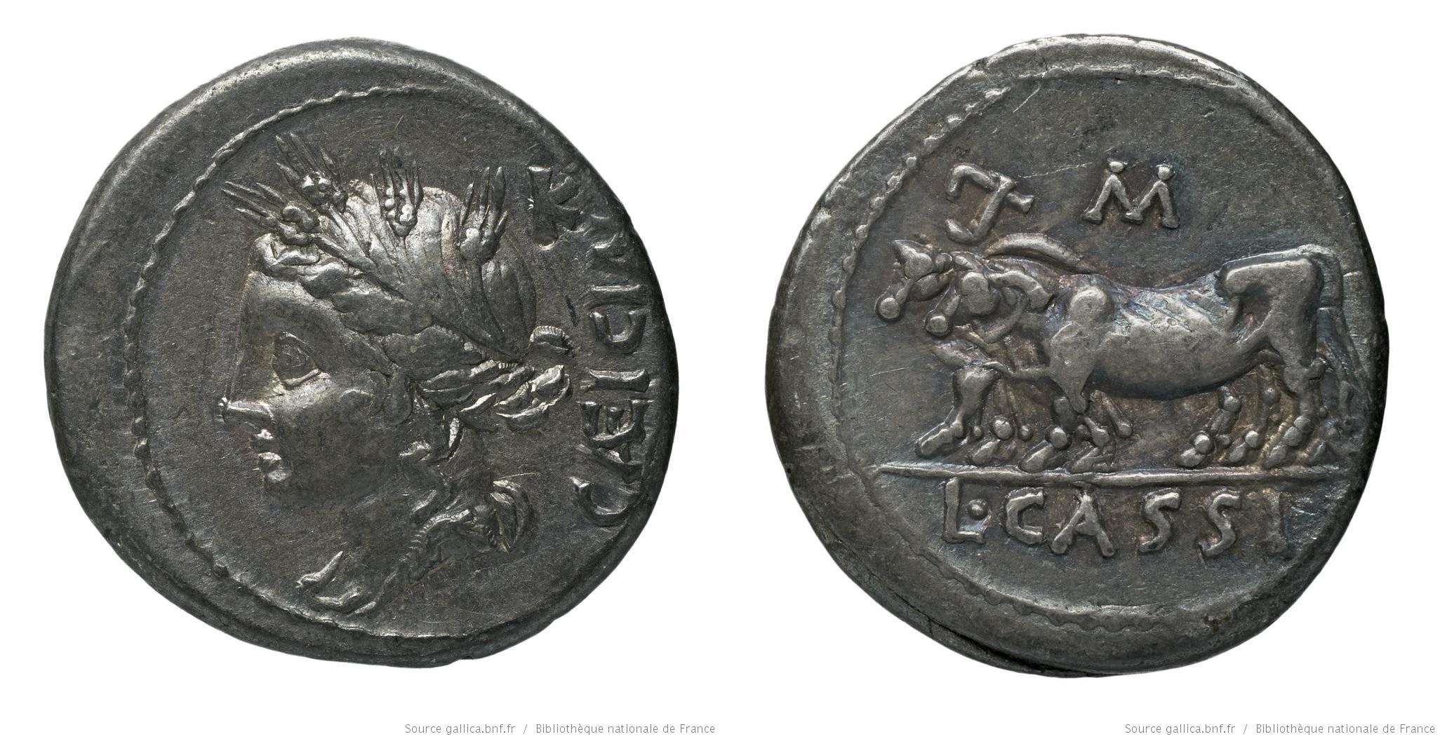 1153CA – Denier Cassia – Lucius Cassius Cæcianus