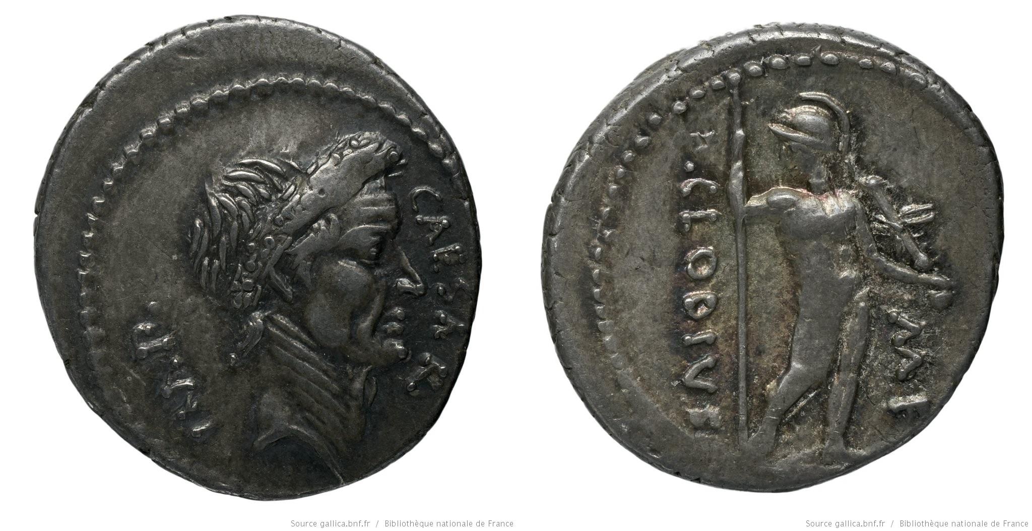 1594JU – Denier César – Publius Clodius