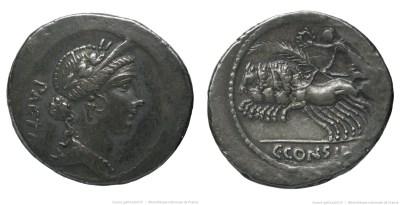 1485CO – Denier Considia – Caius Considius Pætus