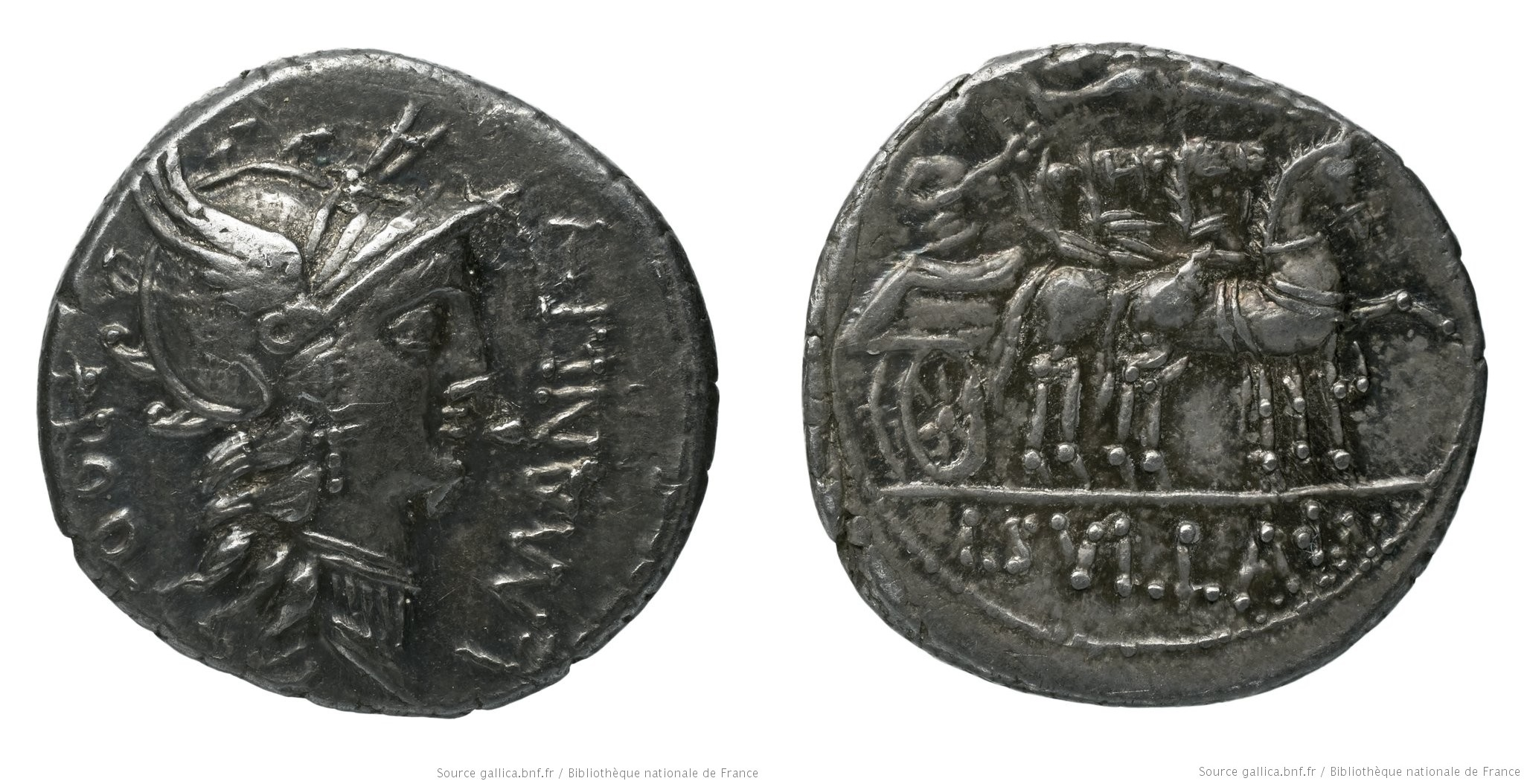 1295MA – Denier Manlia – Lucius Manlius Torquatus