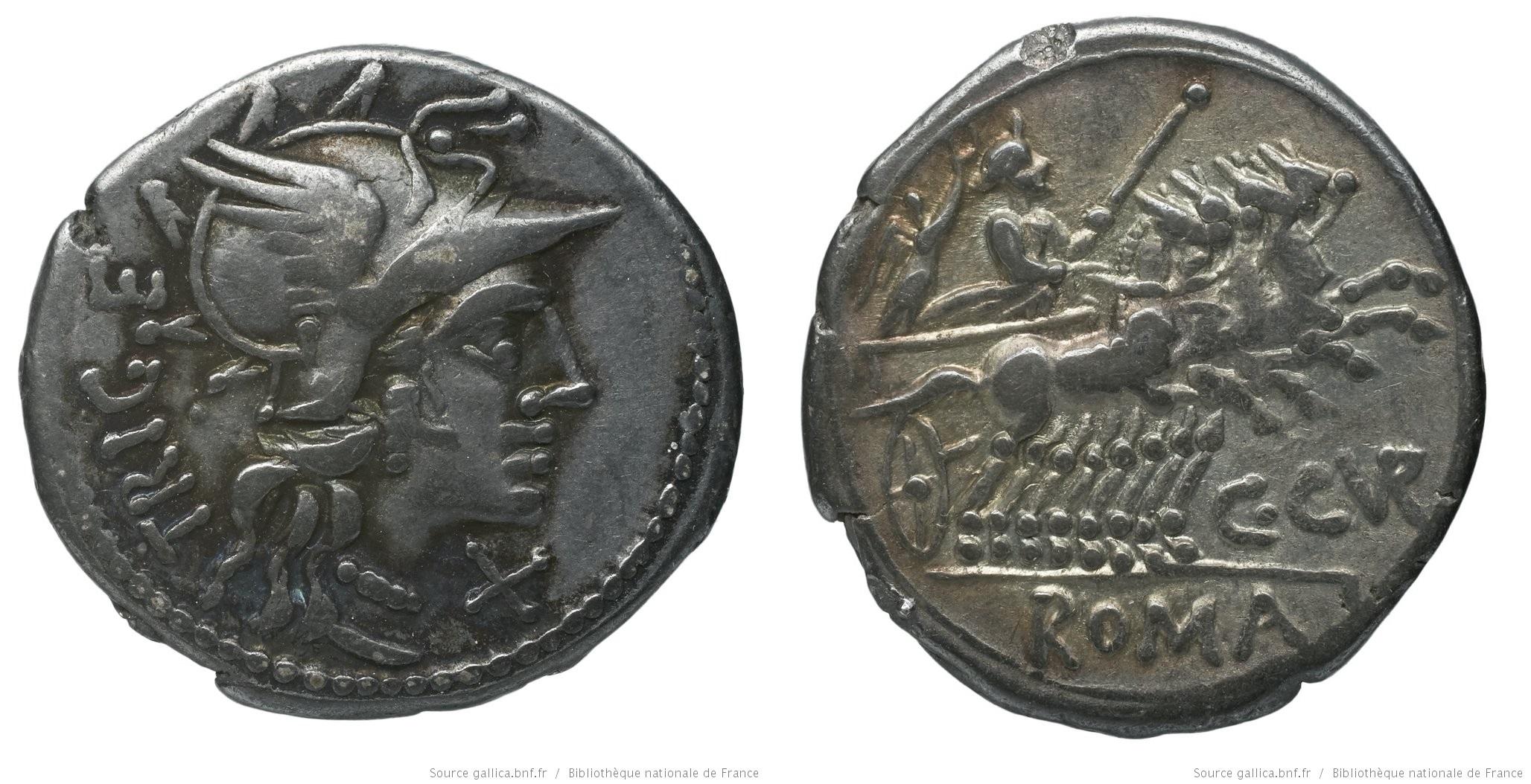 901CU – Denier Curiatia – Caius Curiatius Trigeminus