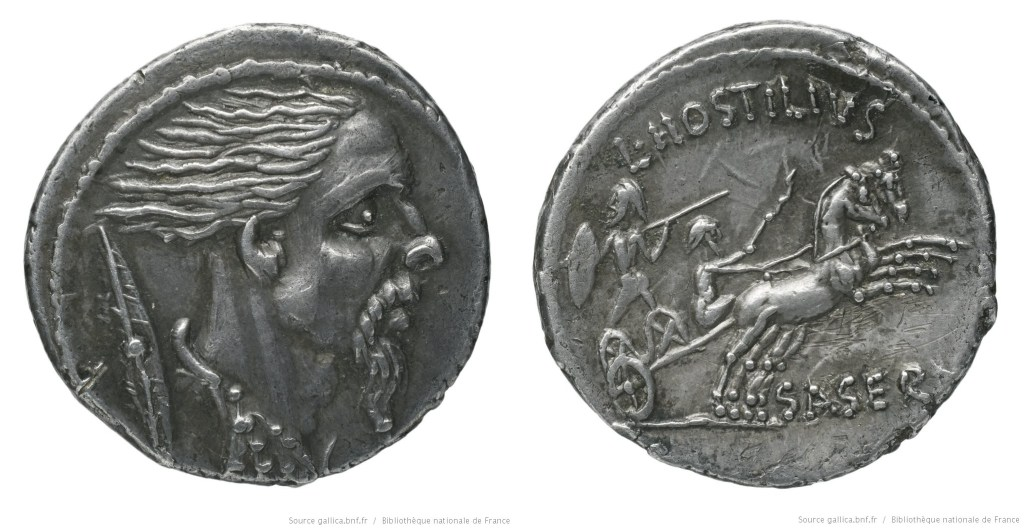 Read more about the article 1432HO – Denier Hostilia – Lucius Hostilius Saserna