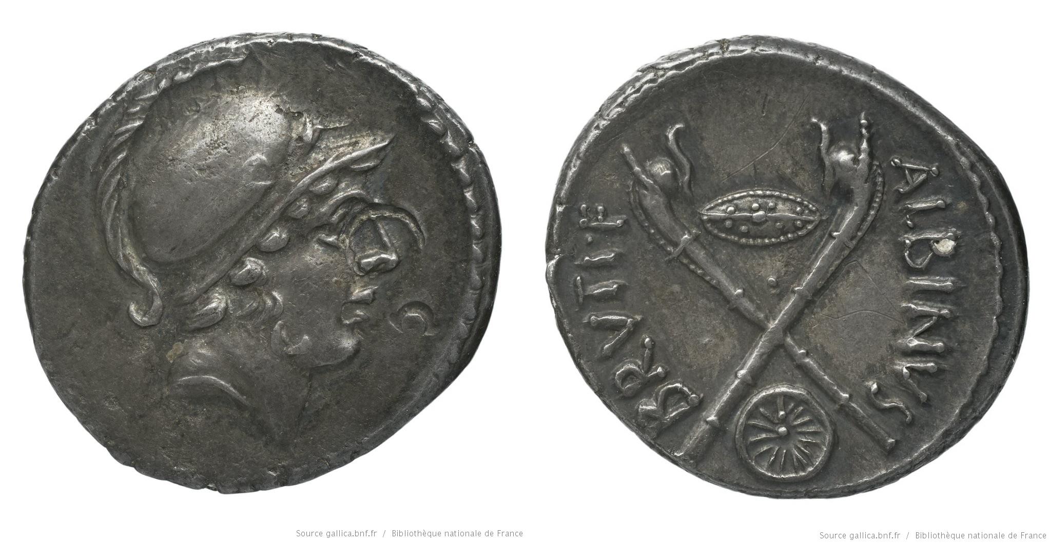 1439PO – Denier Postumia – Decimus Postumius Albinus