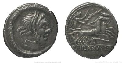 1190JU – Denier Junia – Decimus Junius Silanus