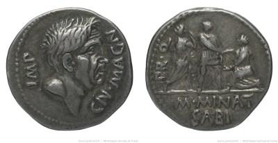1496PO – Denier Pompée le jeune – M. Minatius Sabinus