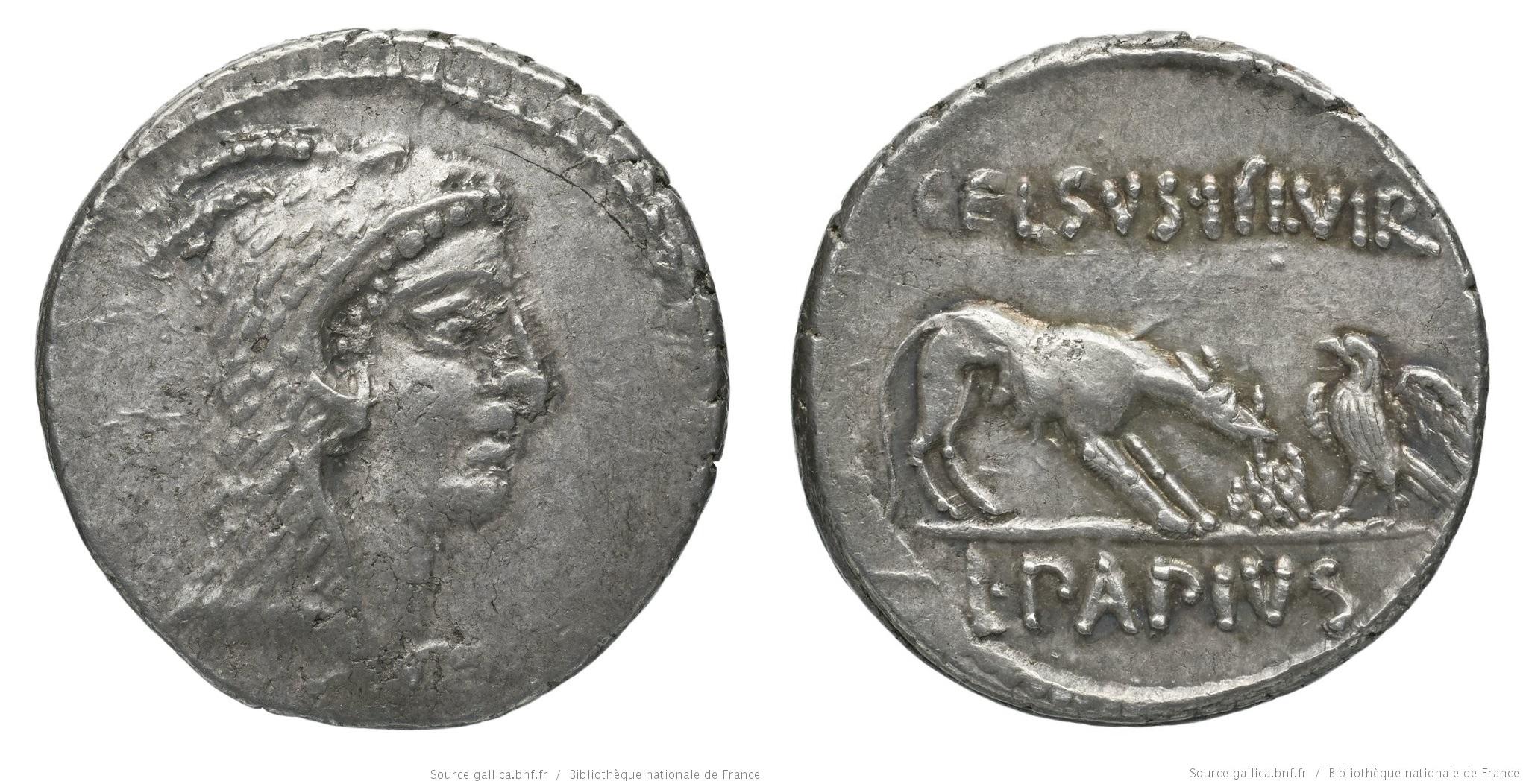 1499PA – Denier Papia – Lucius Papius Celsus