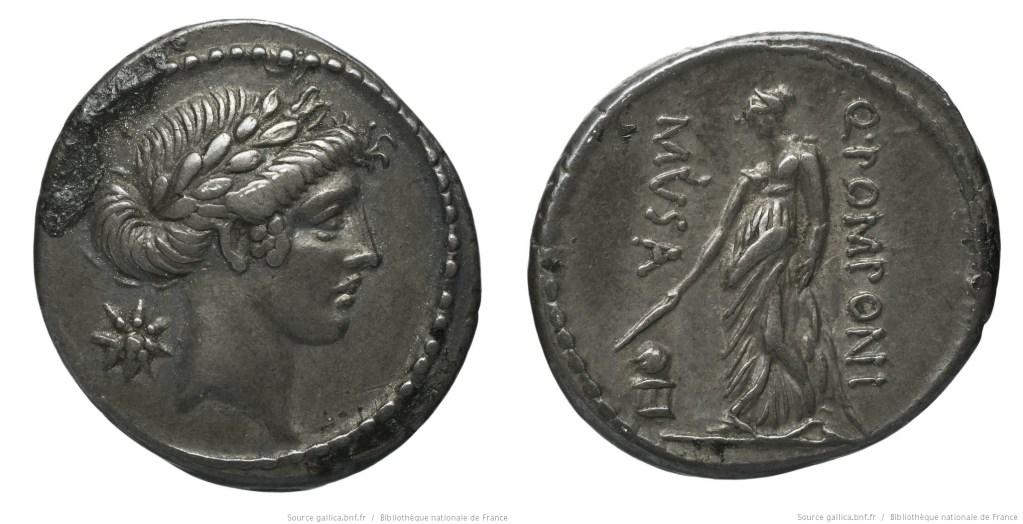 1368PO – Denier Pomponia – Quintus Pomponius Musa
