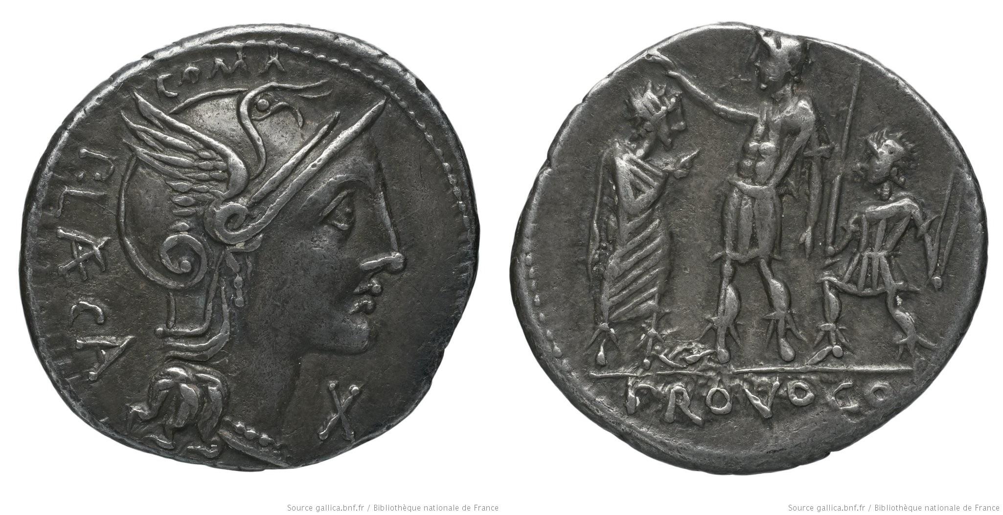 1116PO – Denier Porcia – Publius Porcius Læca