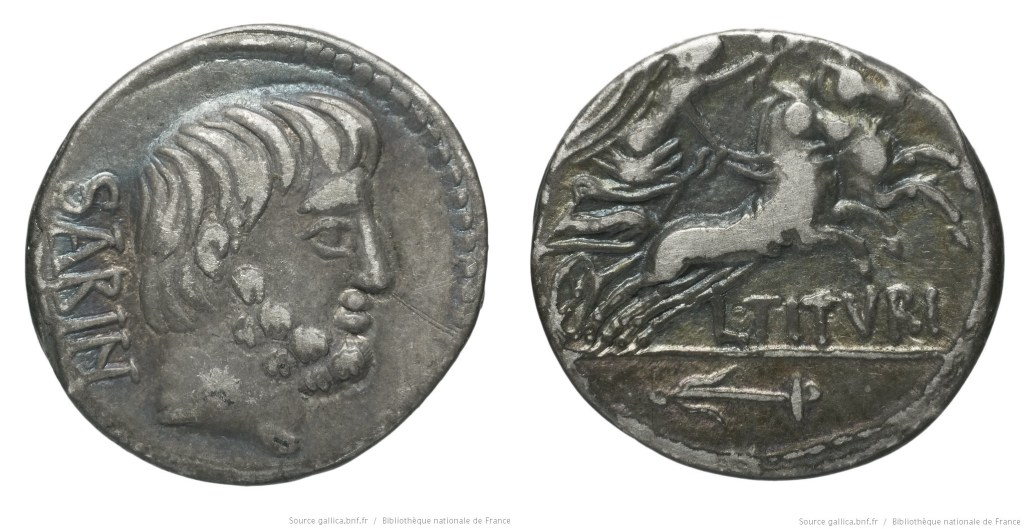 1236TI – Denier Tituria – Lucius Titurius Sabinus