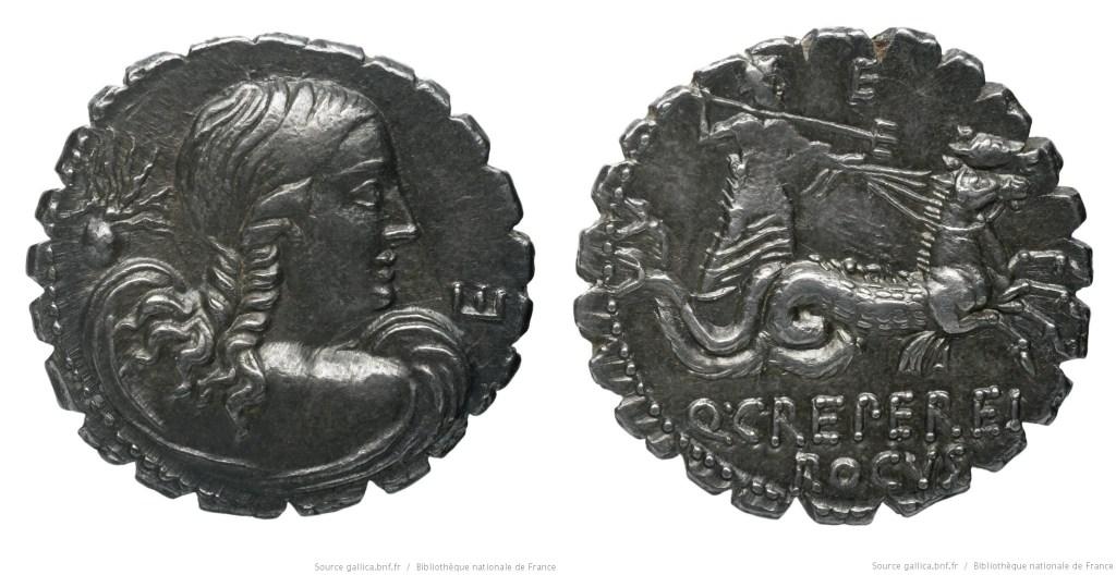 1341CR – Denier Serratus Creperia – Quintus Creperius Rucus