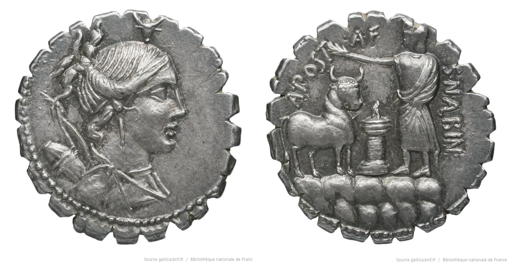 1300PO – Denier Serratus Postumia – Aulus Postumius Albinus