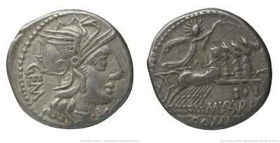 981AB – Denier Aburia – Marcus Aburius Geminus
