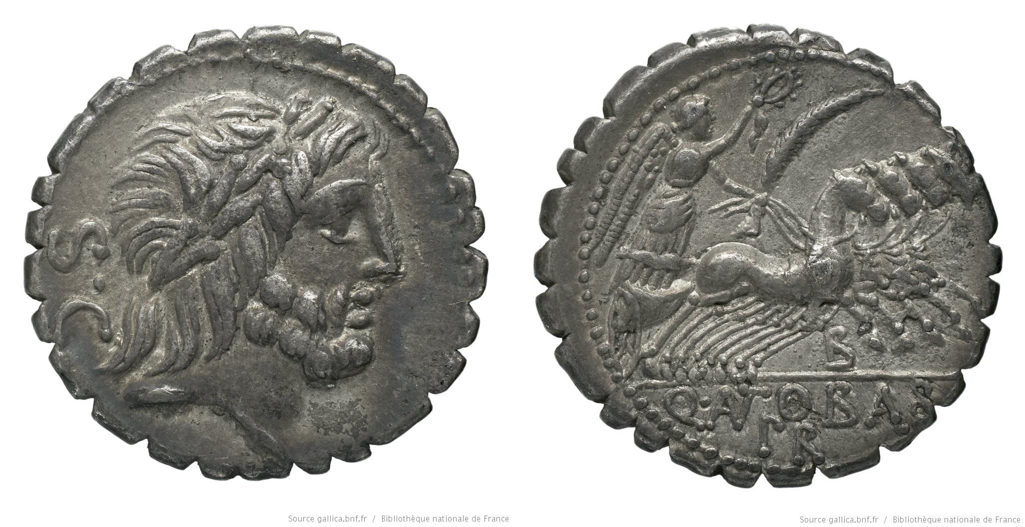 1287AN – Denier Serratus Antonia – Quintus Antonius Balbus
