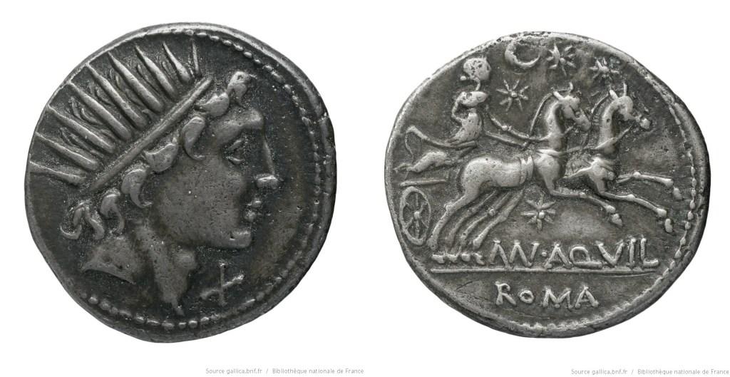 1118AQ – Denier Aquillia – Manius Aquillius