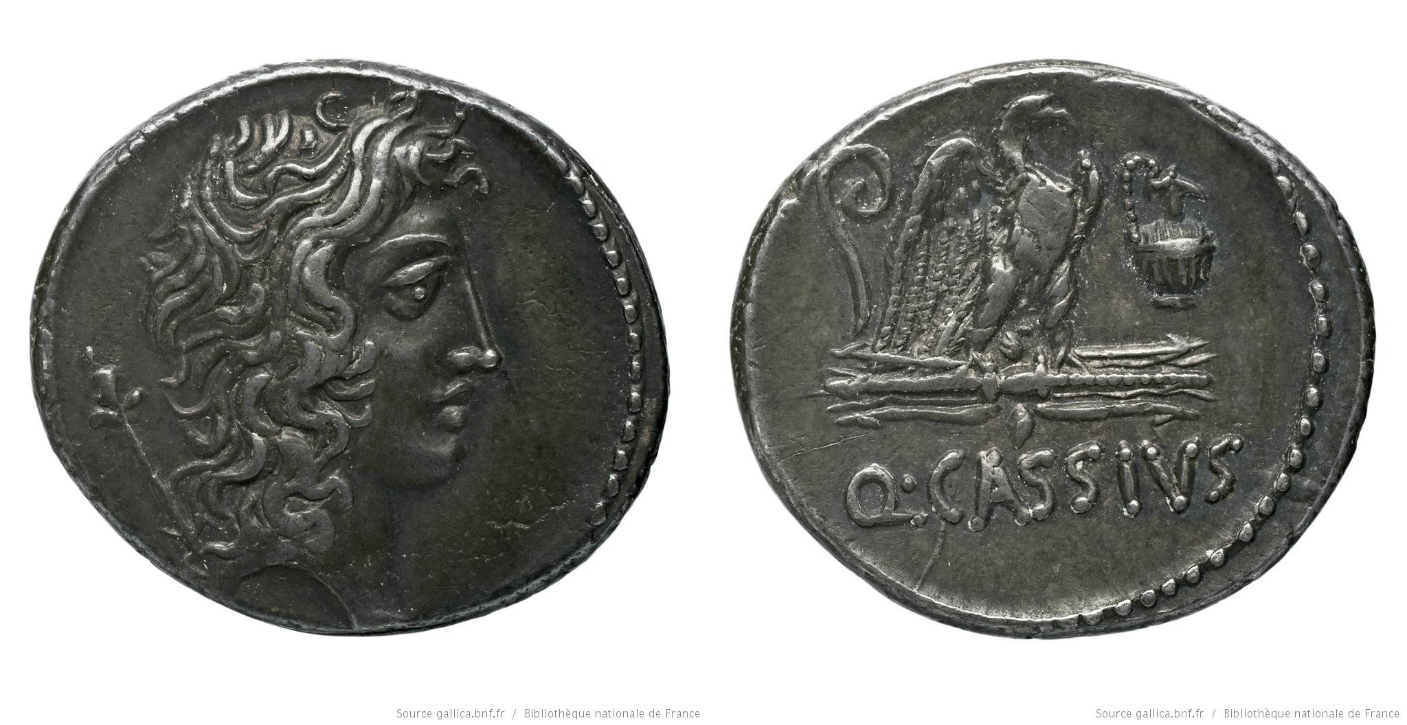 1404CA – Denier Cassia – Quintus Cassius Longinus