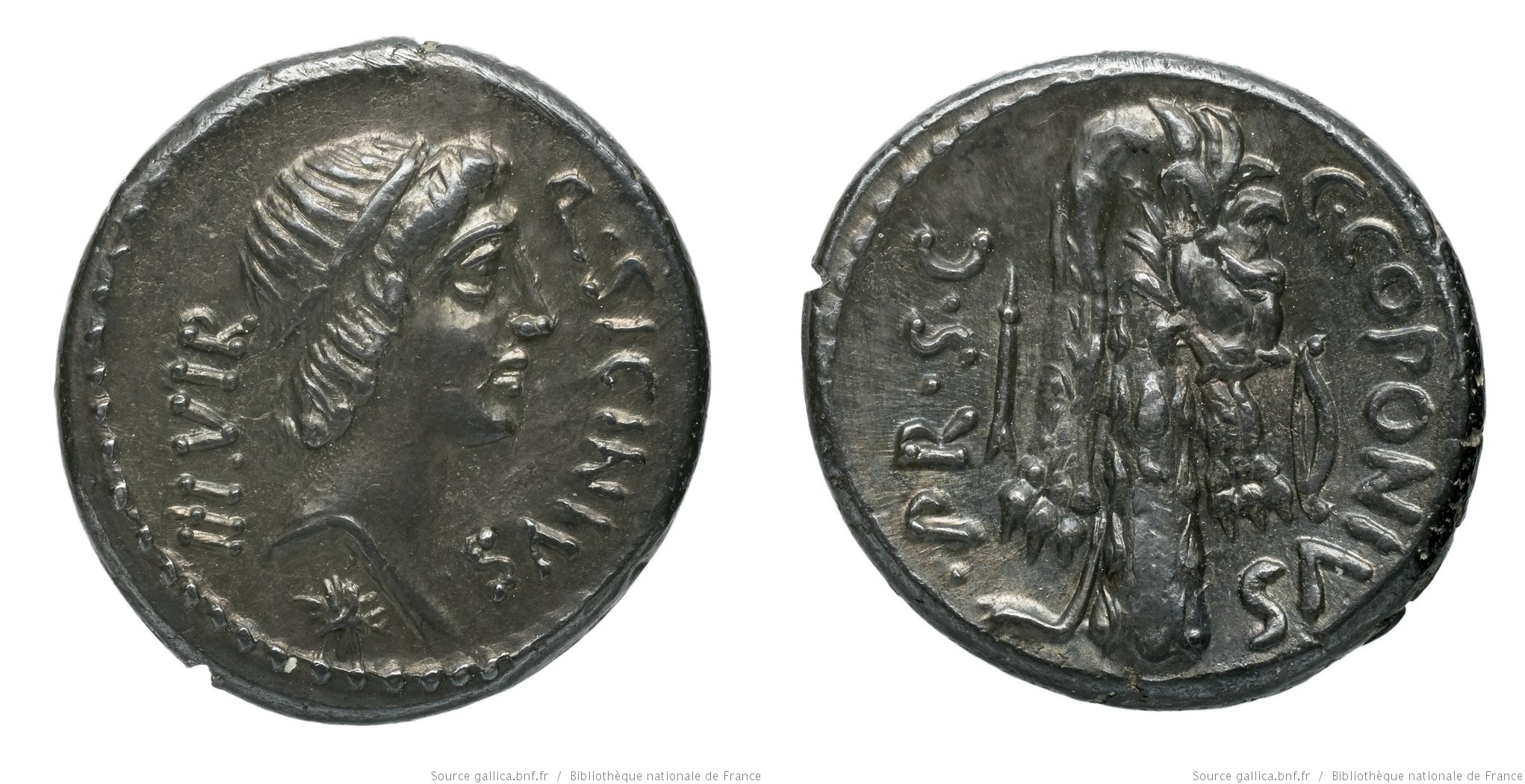 1424SI – Denier Sicinia – Quintus Sicinius