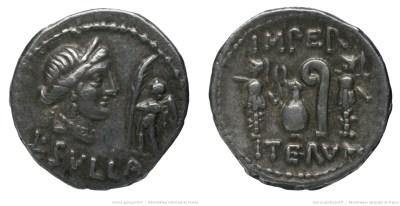 Read more about the article 1281CO – Denier Sylla – Lucius Cornelius Sulla