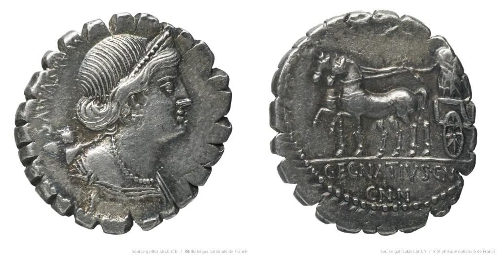 1329EG – Denier Serratus Egnatia – Caius Egnatius Maxsumus