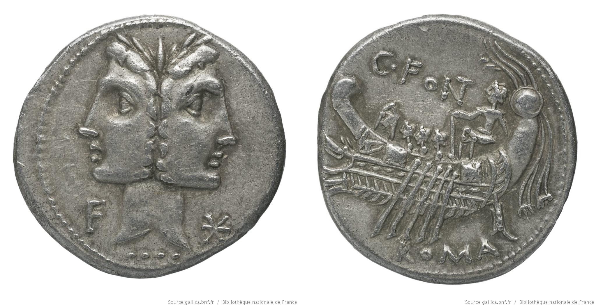 1091FO – Denier Fonteia – Caius Fonteius