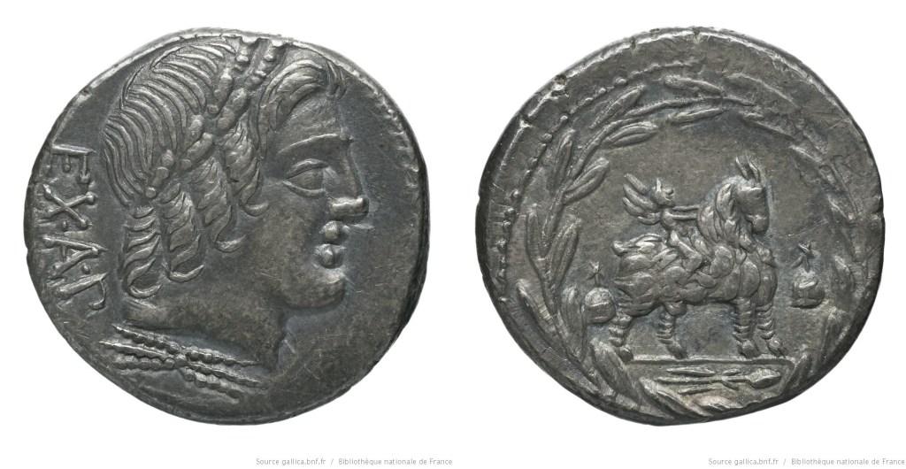 1270FO – Denier Fonteia – Manius Fonteius