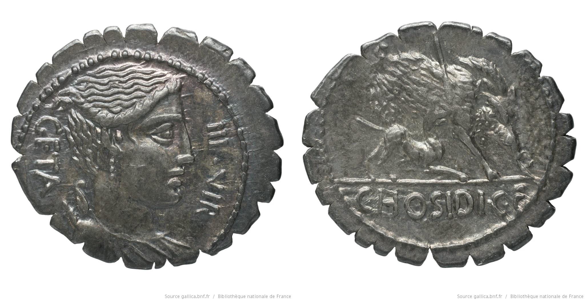 1355HO – Denier Serratus Hosidia – Caius Hosidius Geta