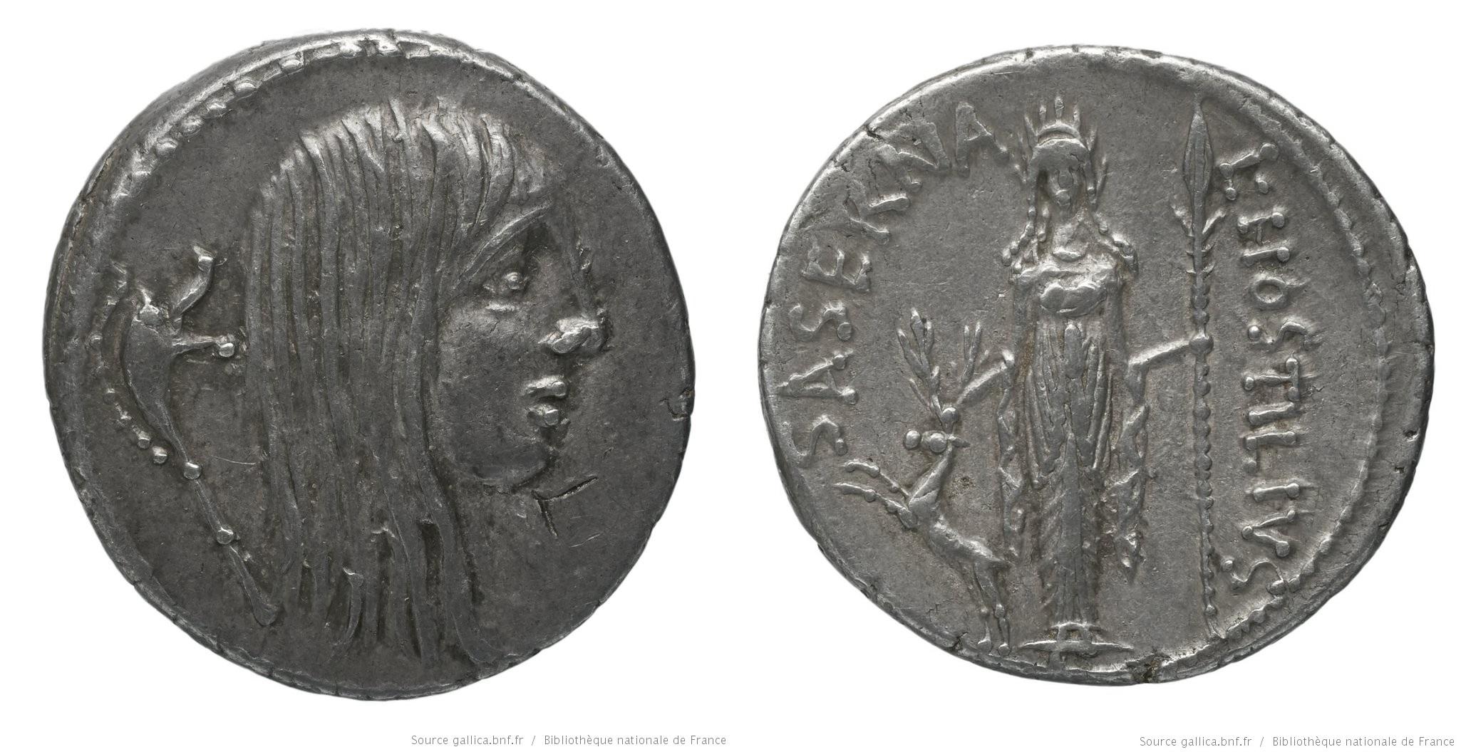 1433HO – Denier Hostilia – Lucius Hostilius Saserna
