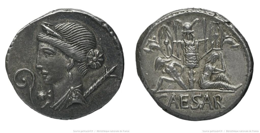 Read more about the article 1493JU – Denier César – Caius Julius Cæsar