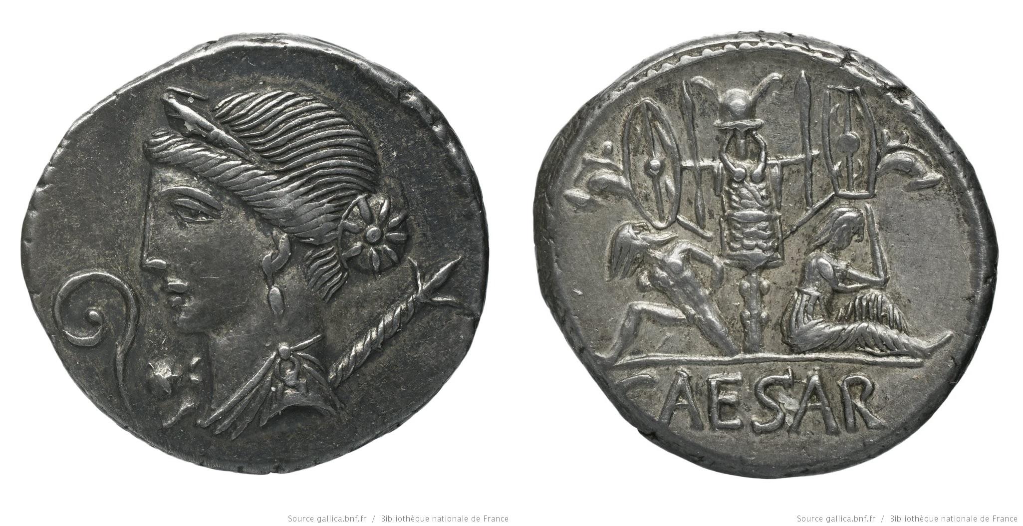 You are currently viewing 1493JU – Denier César – Caius Julius Cæsar