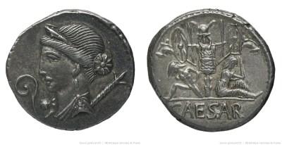 1493JU – Denier César – Caius Julius Cæsar
