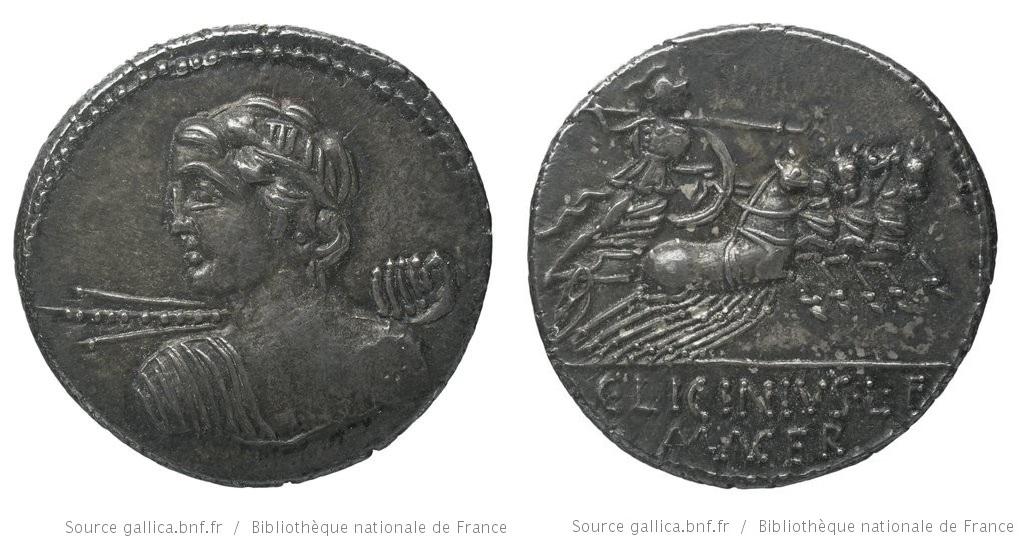 1272LI – Denier Licinia – Lucius Licinius Macer