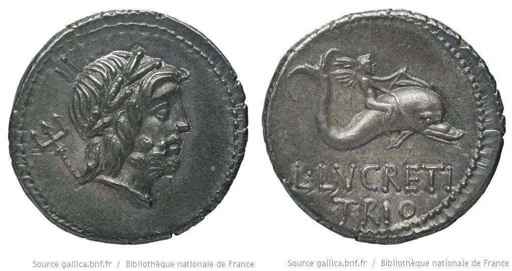 1328LU – Denier Lucretia – Lucius Lucretius Trio