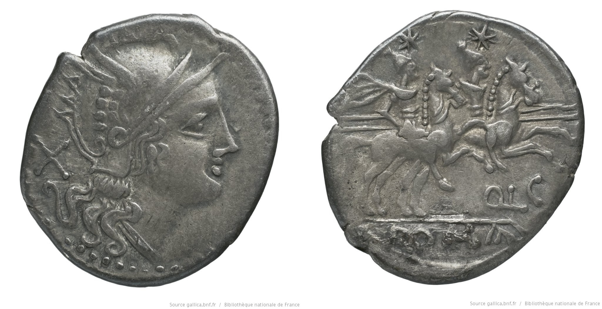 523LU – Denier Lutatia – Quintus Lutatius Cerco