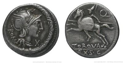 1106MA – Denier Manlia – Lucius Manlius Torquatus
