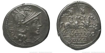 871MA – Denier Marcia – Quintus Marcius Libo