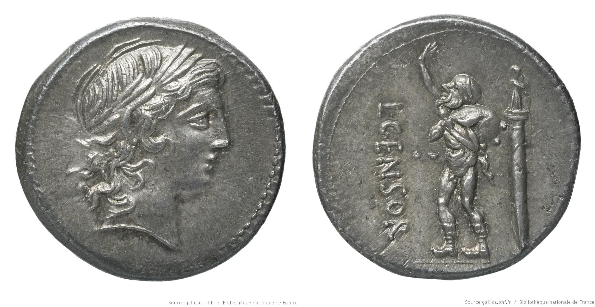 1286MA – Denier Marcia – Lucius Marcius Censorinus