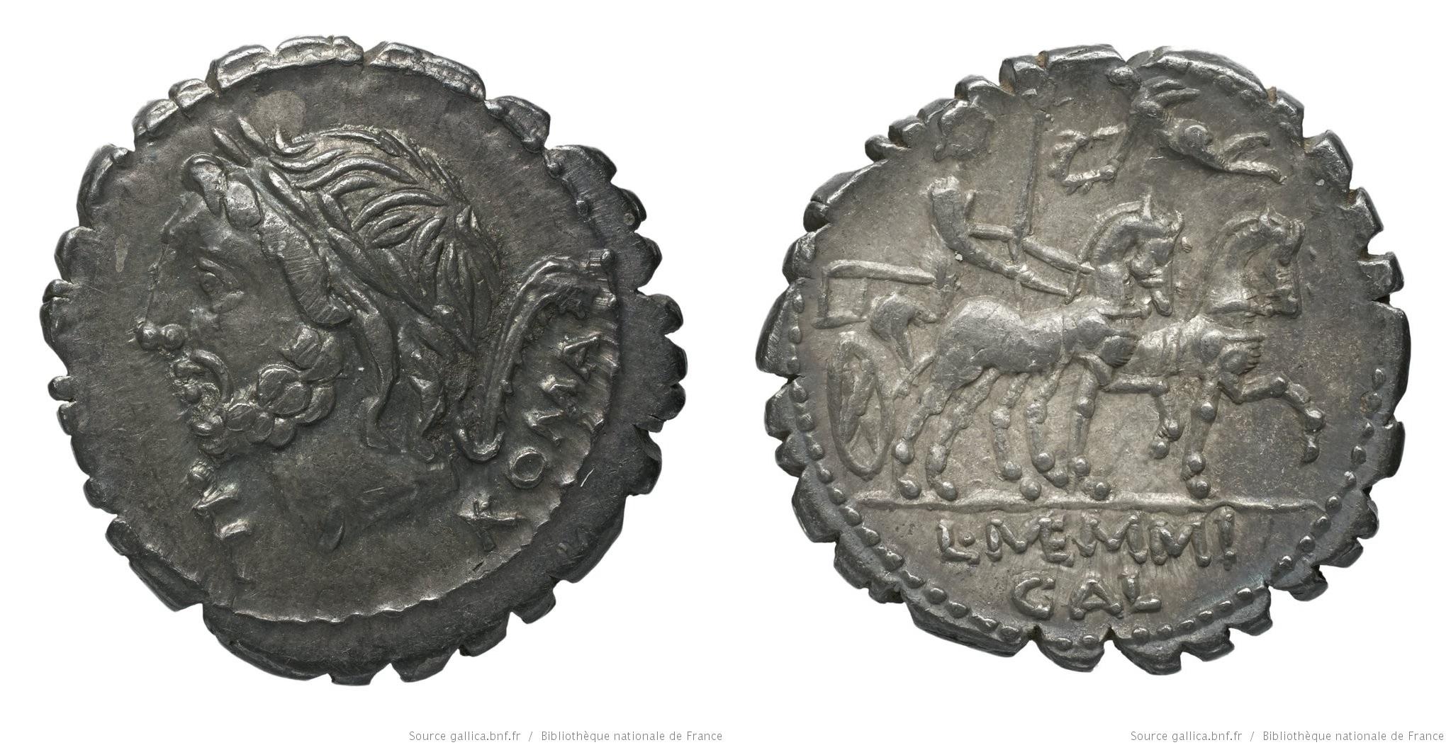 1137ME – Denier Serratus Memmia – Lucius Memmius Galerius