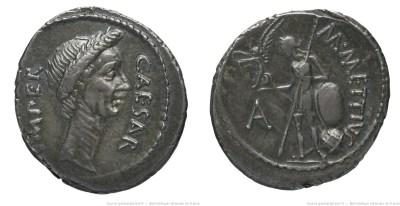 1538JU – Denier César – Marcus Mettius