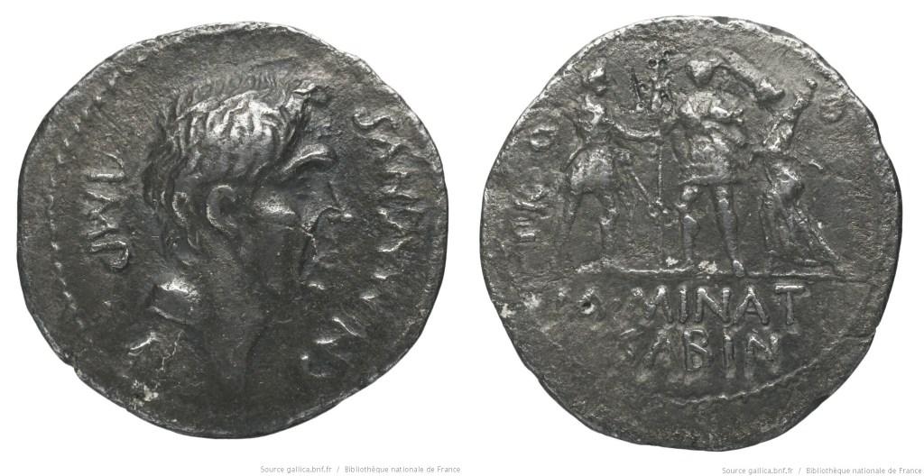 1497PO – Denier Pompée le jeune – M. Minatius Sabinus