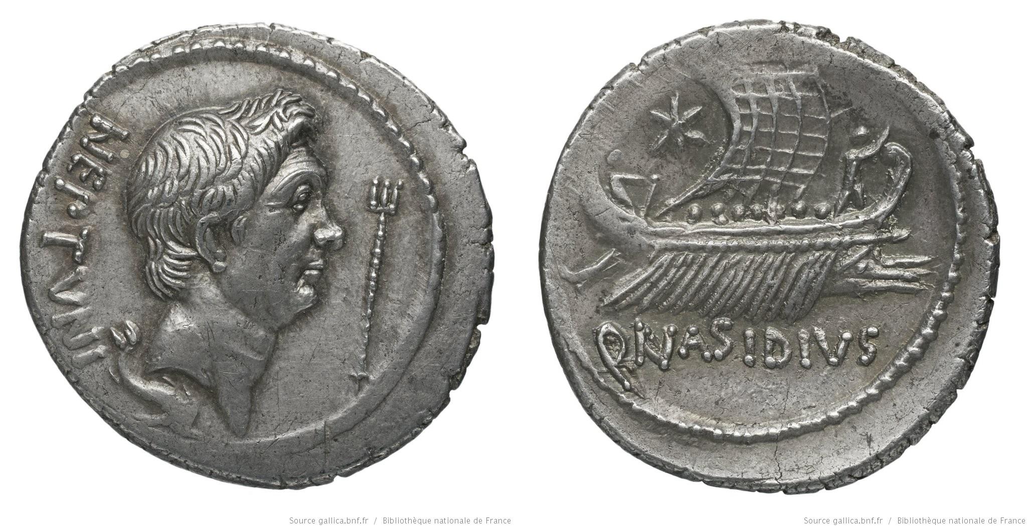 You are currently viewing 1553PO – Denier Sextus Pompée – Quintus Nasidius