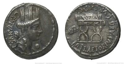1360PL – Denier Plaetoria – Marcus Plætorius Cestianus