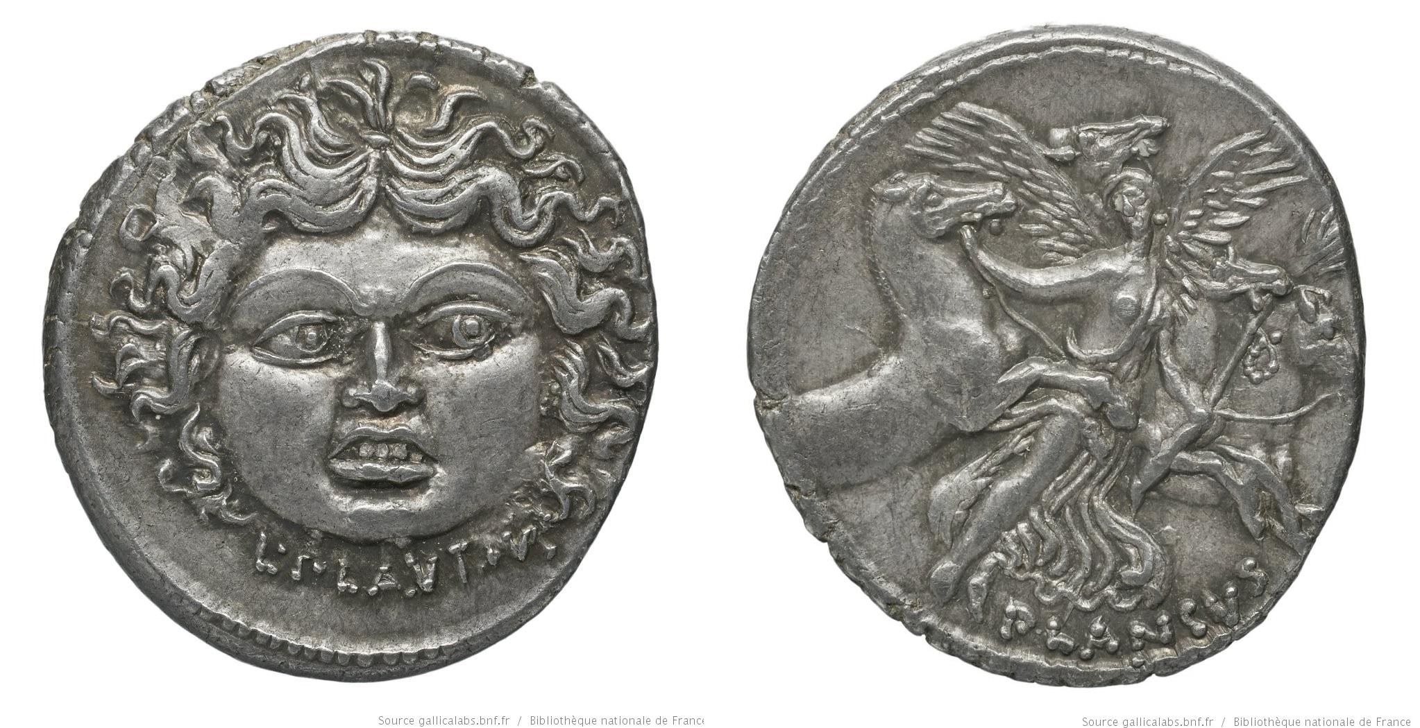 1447PL – Denier Plautia – Lucius Plautius Plancus
