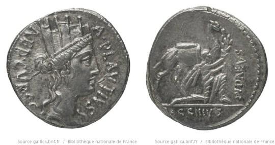 1408PL – Denier Plautia – Aulus Plautius